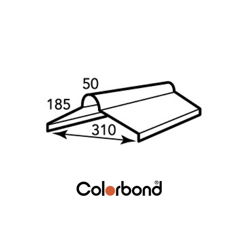COLORBOND® Roll Top Ridge Capping .42 BMT logo