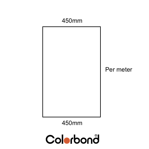 Flat Sheet 450mm Wide COLORBOND® logo