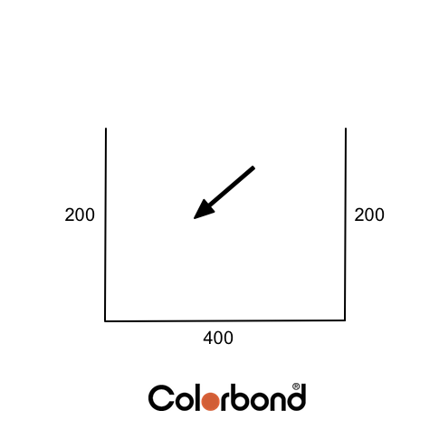Colorbond Box Gutter 400