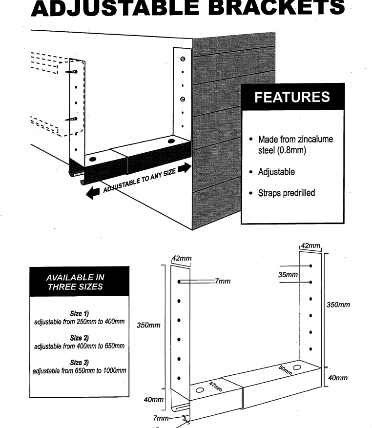 Box Gutter Brackets Diagram