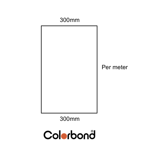 Flat Sheet 300mm Wide COLORBOND® logo