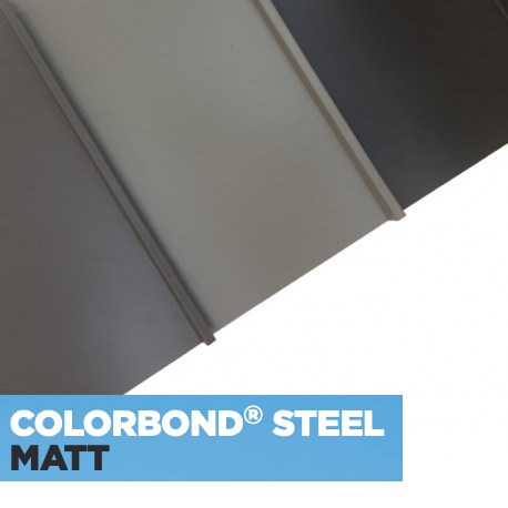 MATT COLORBOND® Standing Seam .55bmt - 330mm Sheet Cover logo