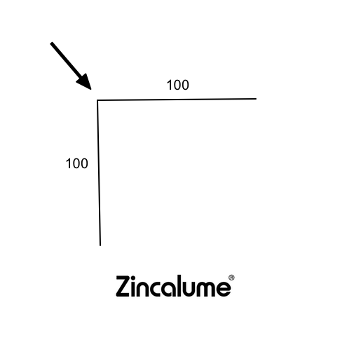 Right Angle Flashing 100 x 100 ZINCALUME® logo
