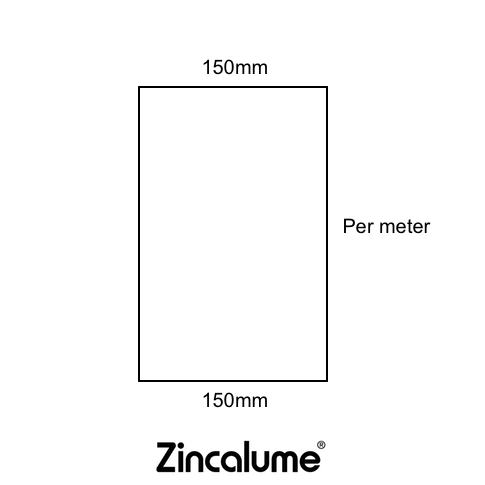 Flat Sheet 150mm Wide ZINCALUME® logo