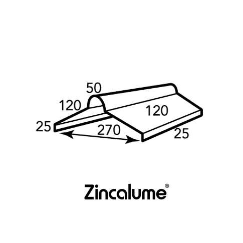 ZINCALUME® Roll Top Ridge Capping .40 BMT - Queensland logo