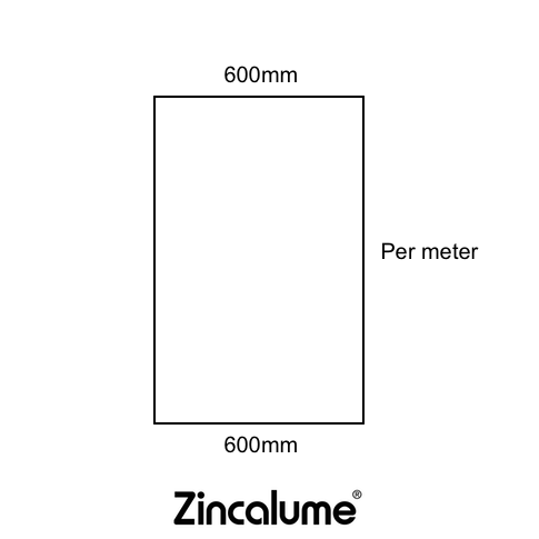 Flat Sheet 600mm Wide ZINCALUME® logo
