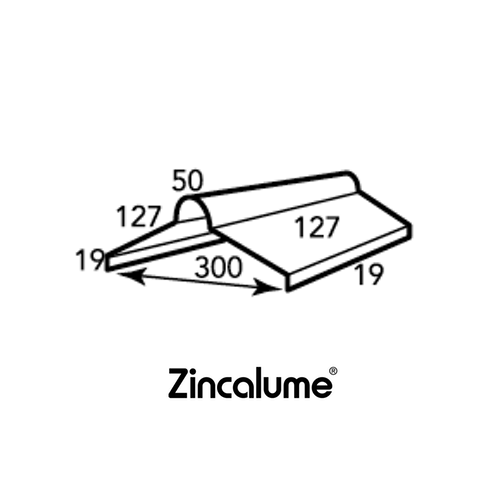 ZINCALUME® Roll Top Ridge Capping .55 BMT logo