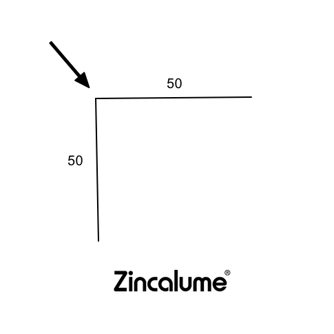 Right Angle Flashing 50 x 50 ZINCALUME® logo